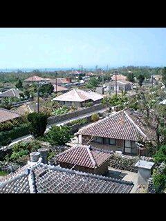 竹富島 なごみの塔からの街並み