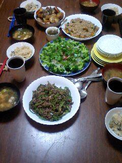 実家の夕食