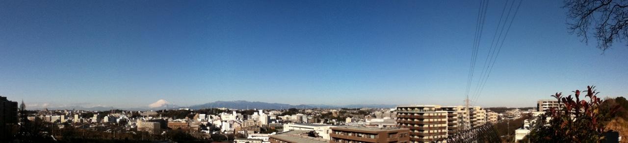 戸塚から富士山方面のパノラマ