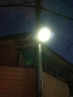 街灯がLED